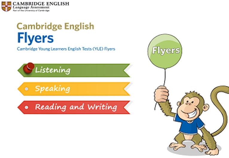 Flyers reading and writing test online