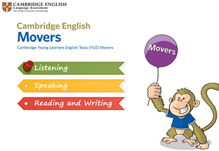 Movers reading and writing test online